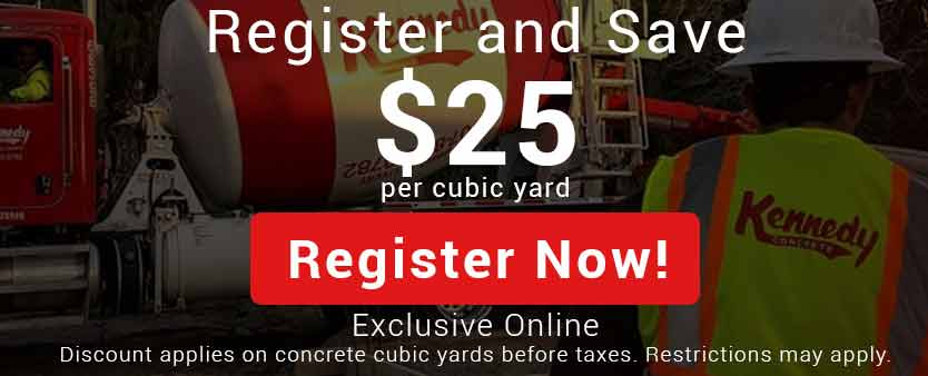 Register and save $25 per cubic yard