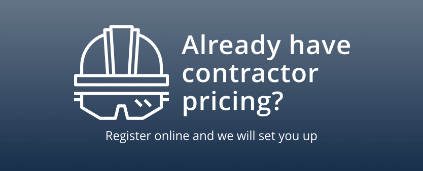 Already have contractor pricing